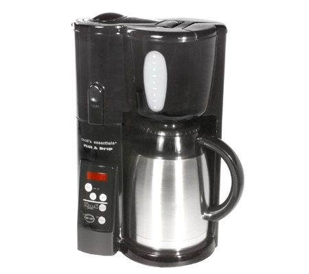 CooksEssentials 10-Cup Mill & Drip Coffee Maker w/ Thermal Carafe QVC.com