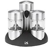 Kalorik Rechargeable Salt and Pepper Grinder Set - K303382