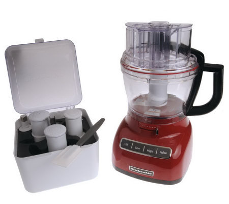 KitchenAid 13 Cup 3-in-1 Wide Mouth Food Processor w/ Accessories