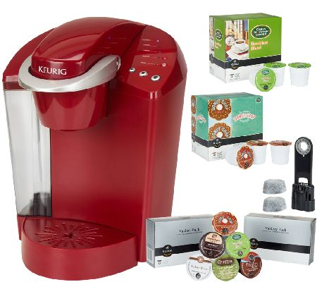 Keurig Red Coffee Maker Instructions : Keurig K40 Coffee Maker w/ 48 K-Cup Packs & Water Filter Starter Kit QVC.com