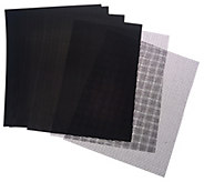 As Is CooksEssentials (4) Solid & (2) Mesh 13x16 BBQ Grill Mats - K307583