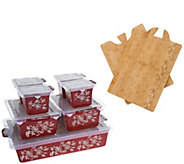 As Is Temp- tations Floral Lace 9-piece Prep to Perfect Bake Set - K307983