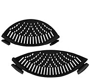 Set of 2 Silicone Pot & Pan Strainers - K42383