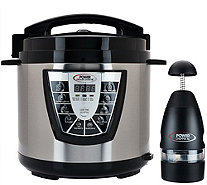 Power Pressure Cooker XL Digital 8 qt. Pressure Cooker w/ Dual Racks - K43483