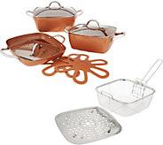 Sh 11/13 Copper Chef 10-piece Cerami-Tech Cookware Set in Colors - K47083