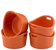 Rachael Ray 4-Piece Bubble & Brown Ramekin Set - K304884