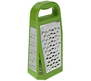 Microplane Elite Box Grater with 5 Grating Blades - K42884