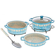 Temp-tations Floral Lace Cook & Look 3-pc. Bake Set w/Serving Spoon - K43384