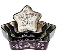 Temp-tations Floral Lace Star-Shaped Nested Cake Pans - K43984