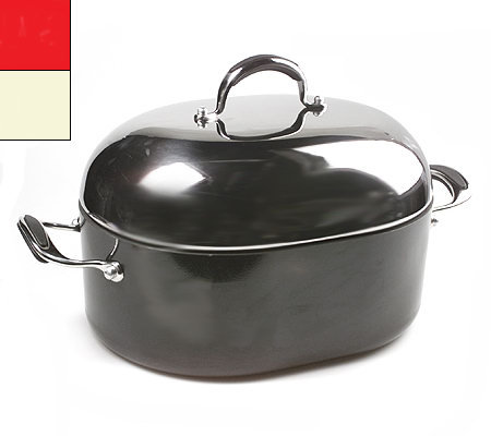 Kitchenaid Pro Nonstick Roaster With High Dome Lid Qvc Com