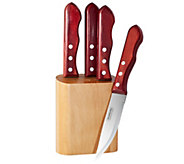 Tramontina Porterhouse 5-Piece Block Steak KnifSet - K176685