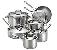 Anolon Tri-Ply Clad Stainless Steel 12-Piece Cookware Set - K302885