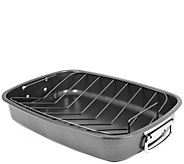 Oneida Carbon Steel Roaster with V-Rack - Gray - K305085