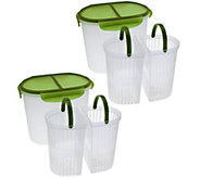 As Is Set 2 Split Straining Containers by MarkCharles Misilli - K307385