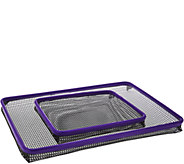 CooksEssentials Set of 2 Non-Stick Oven Crisper Trays - K43685