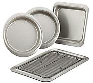 Anolon Nonstick 5-Piece Bakeware Set, Pewter/Onyx - K306286