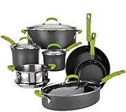 As Is Rachel Ray 11-Piece Hard Anodized Dishwasher Safe Cookware Set - K307686