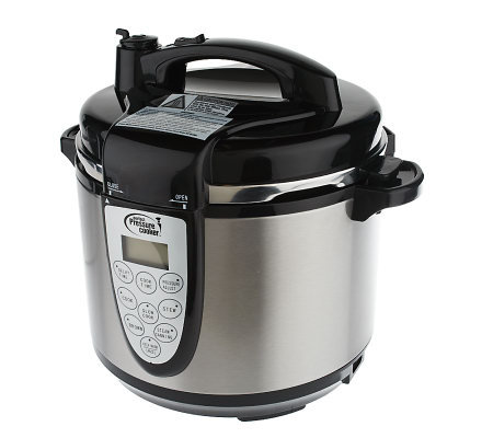 CooksEssentials 5 Qt Digital Stainless Steel 7 Function Pressure Cooker