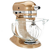 KitchenAid 5 qt 325W Tilt Head Stand Mixer w/ Glass Bowl & FlexEdge Beater - K41486