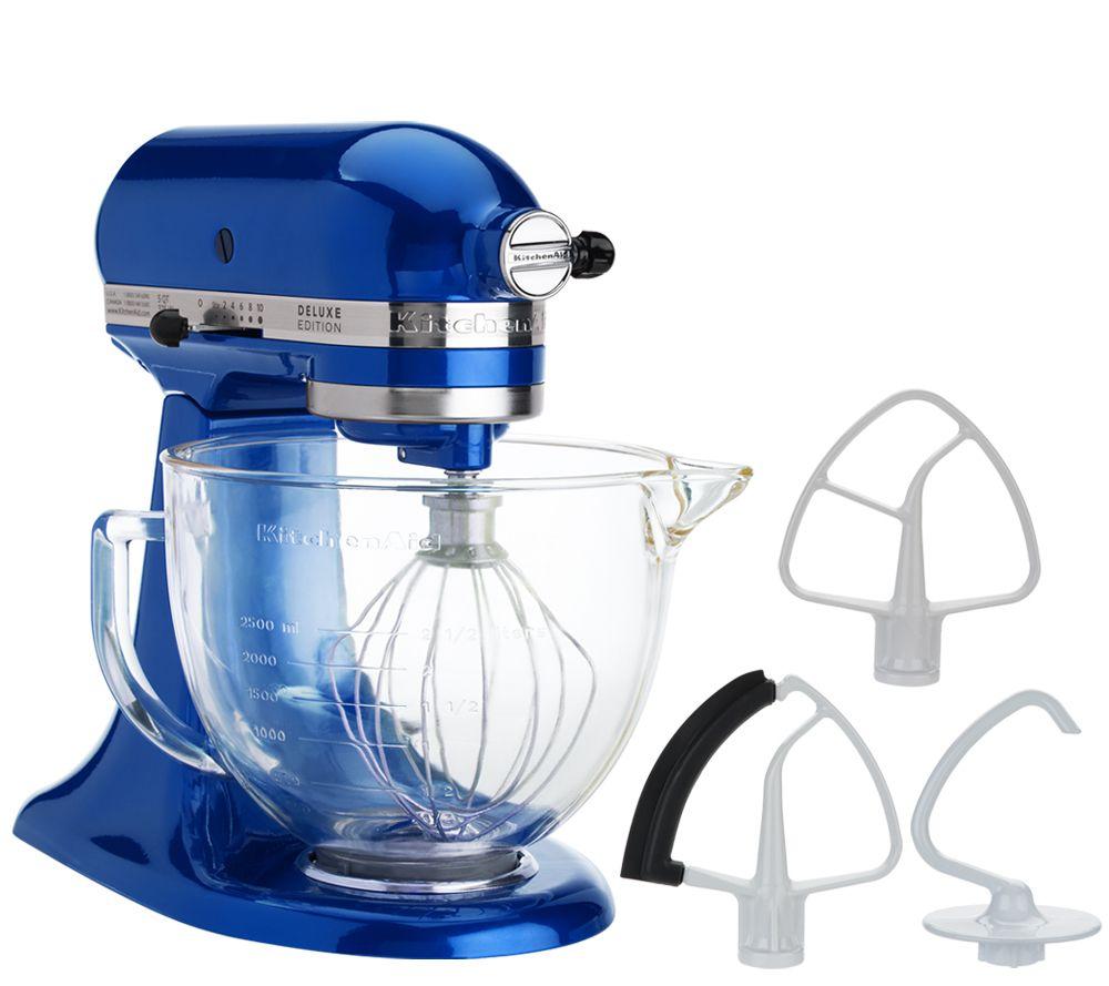 kitchenaid 5 qt 325w tilt head stand mixer w glass bowl u0026 flexedge beater page 1 u2014 qvccom - Kitchenaid Artisan 5qt Stand Mixer