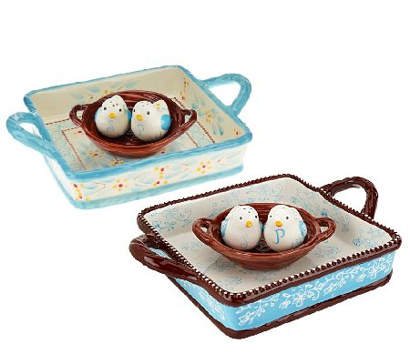 Temp-tations Napkin Holder with Salt and Pepper Shakers