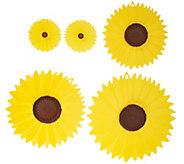 Charles Viancin Set of 5 Floral Suction Seal Lids - K42986