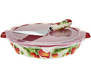 Temp-tations Figural Fruit Pie Dish with Server - K43386