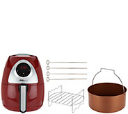 Power Air Fryer XL Pro 3.4qt w/ Barrel Pan & Grill Rack - K45386