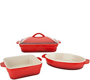 Cooks Essentials Gradient 3-Pc Ceramic Bake & Serve Set - K46886