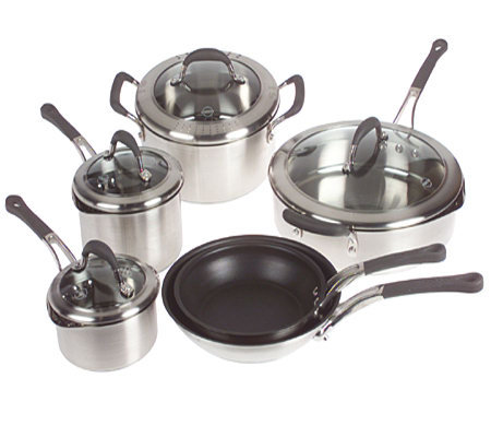 Rocco DiSpirito Stainless Steel 10 Piece Cookware Set