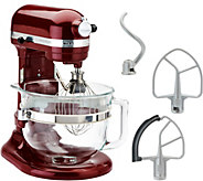 KitchenAid 6qt. 575 Watt Glass Bowl Lift Stand Mixer w/ Flex Edge & Recipes - K44687