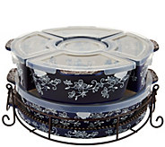 Temp-tations Floral Lace 3qt Baker w/ Ramekins & Lid-it - K45987