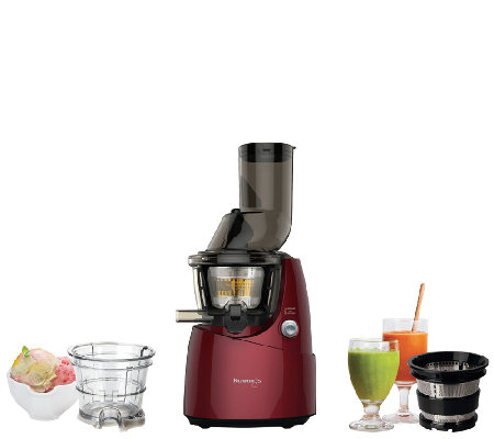 Slow Juicer Smoothie Recipe : Kuvings Whole Slow Juicer with Smoothie Maker Attachment QvC.com