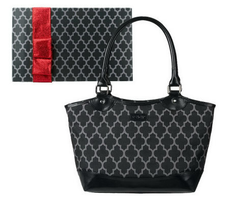 Sachi Insulated Trellis Print Lunch Tote w/Gift Box