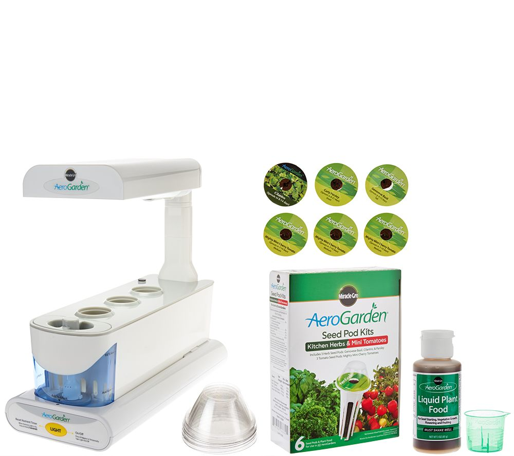 miracle-gro aerogarden sprout 3-pod garden with 6 seed pods - page