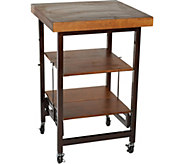 Oasis Wood Top Folding Kitchen Cart - K45788