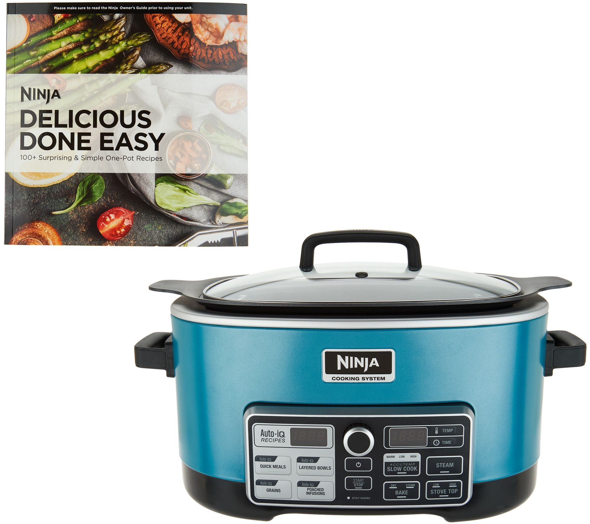 Ninja 4 In 1 Accutemp Cooking System W Auto Iq Recipe Book Page Qvc