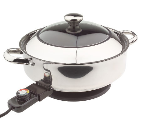 Cooksessentials Stainless Steel Nonstick 12 Electric Deep