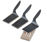 Kuhn-Rikon S/3 Dual Edged Polka Dot Slice and Serve Spatula Knives - K40189