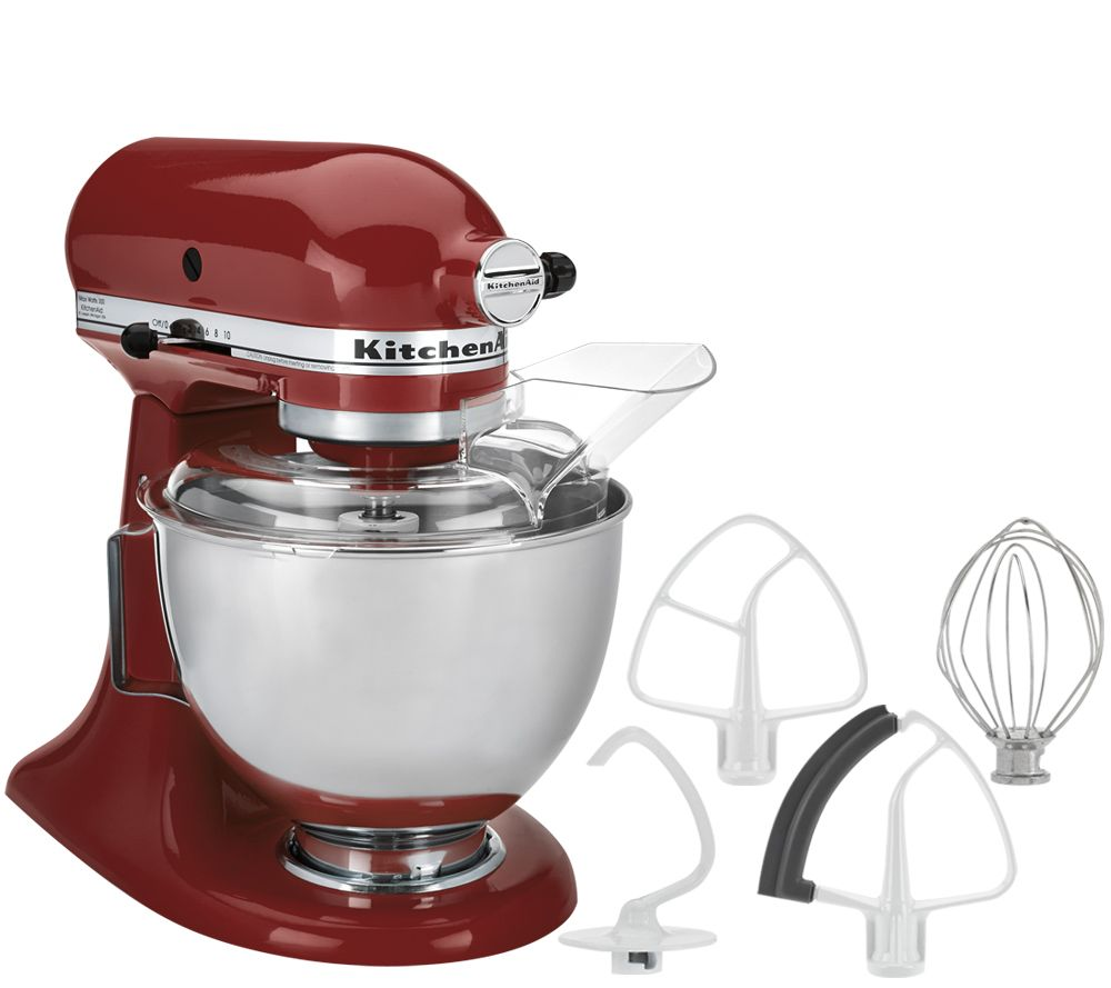 Kitchenaid 4 5qt 300w Tilt Head Stand Mixer With Flex Edge Page 1 Qvc