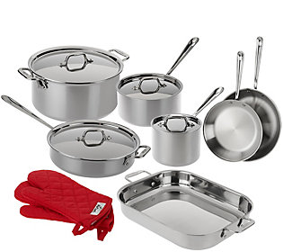 All Clad Tri Ply Stainless Steel 13 Piece Cookware Set