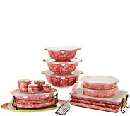Temp-tations Floral Lace Spring Colors 18-pc Bake and Serve Set - K44989
