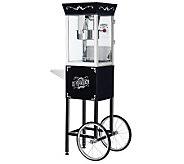 Black Matinee Movie 8-oz Antique-Style PopcornMachine w/Cart - K131890