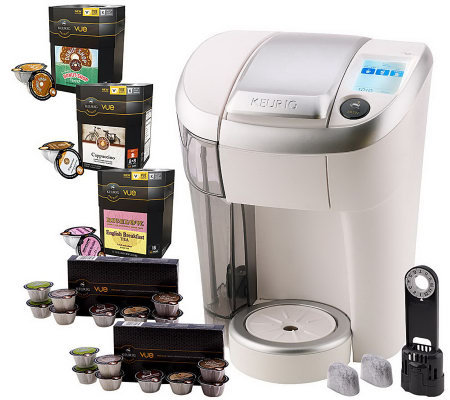 Keurig Vue V500 Single Serve Coffee Maker w/ 56 Vue Packs & Water Filter
