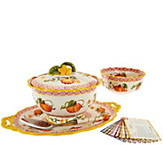 Temp-tations Old World 6-pc Serving Platter & Pedestal Bowl Auto-Delivery - K45190