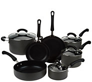 Cooks Essentials 11pc Hard Anodized Dishwasher Safe Cookware Set - K43291