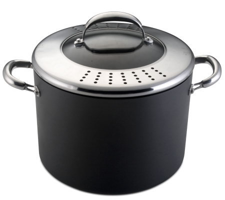 Technique 10 qt Stockpot with Glass Locking Drain Lid