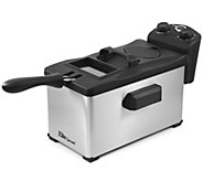 Elite Platinum Glass 3.5-qt Immersion Deep Fryer with Timer - K302092