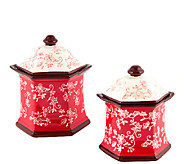 Temp-tations Floral Lace Set of 2 Canisters - K303392