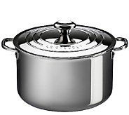 Le Creuset Stainless Steel 7-qt Stockpot with Lid - K303592